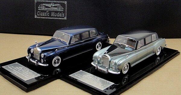 Black // Blue 1//43 Rolls-Royce Phantom V Touring Limousine by Park Ward 1961