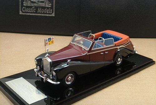 1/43 Rolls-Royce Silver Wraith All - Weather Cabriolet ,Red /Bla